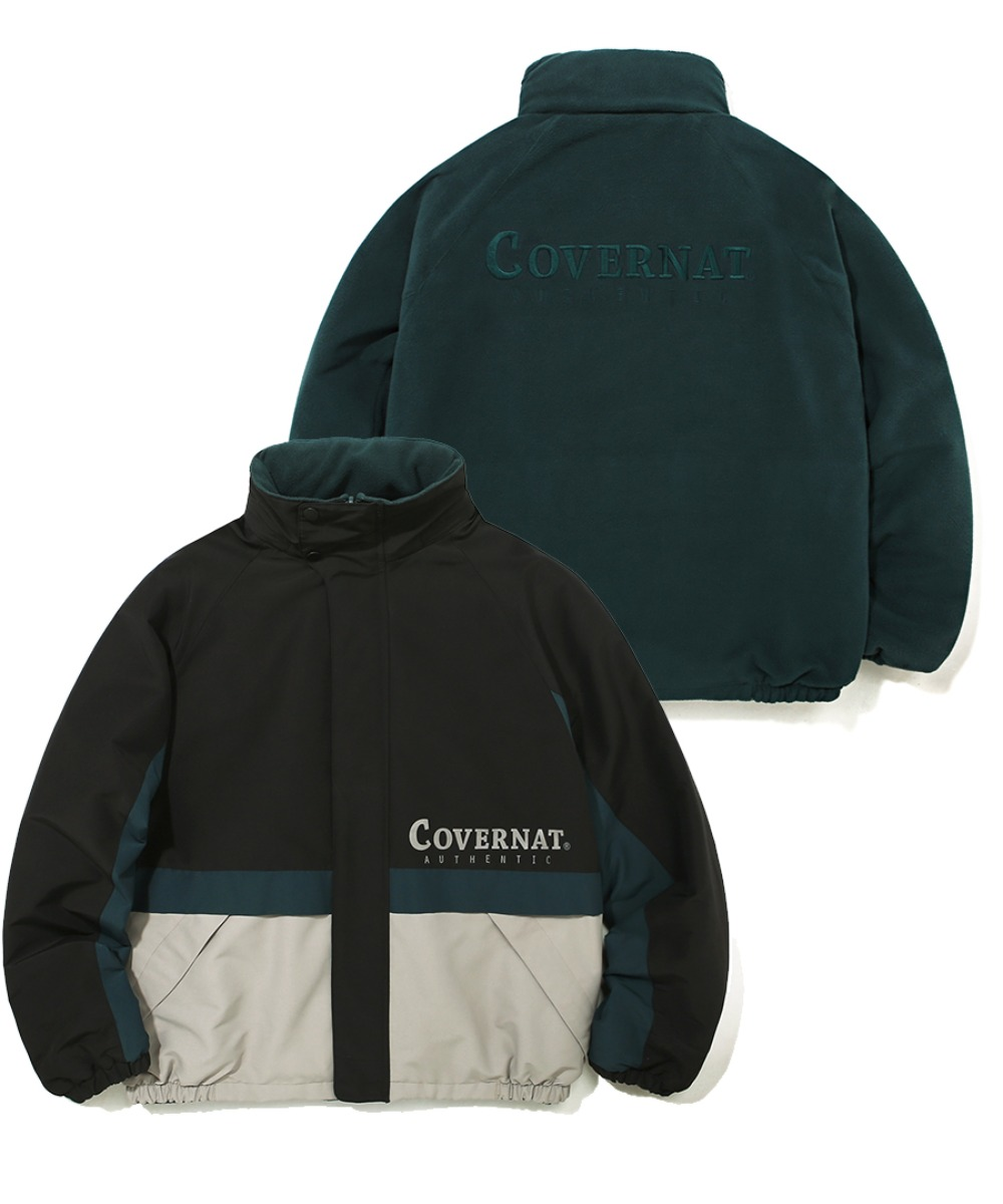 REVERSIBLE FLEECE YACHT PARKA GREEN