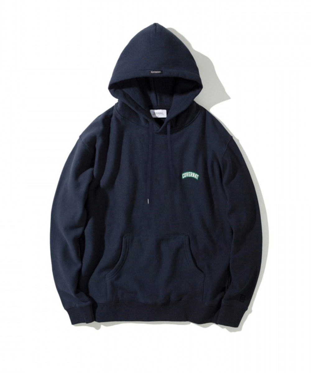 COTTON USA WAPPEN ARCH LOGO HOODIE NAVY