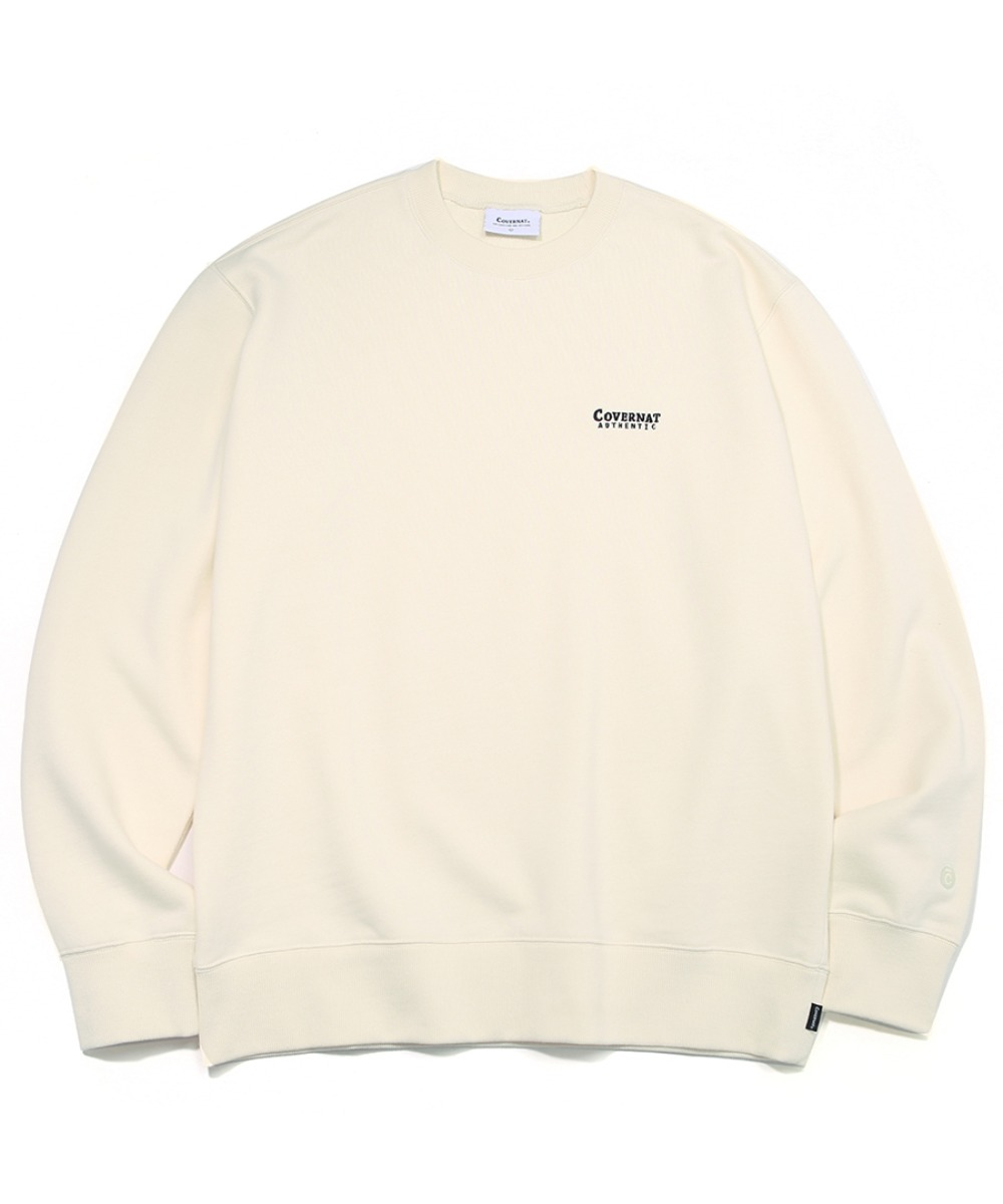SMALL AUTHENTIC LOGO CREWNECK IVORY