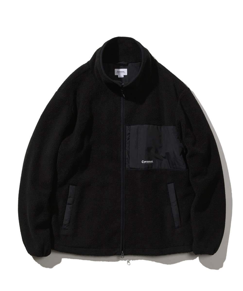 MIXED BOA WARM UP JACKET BLACK