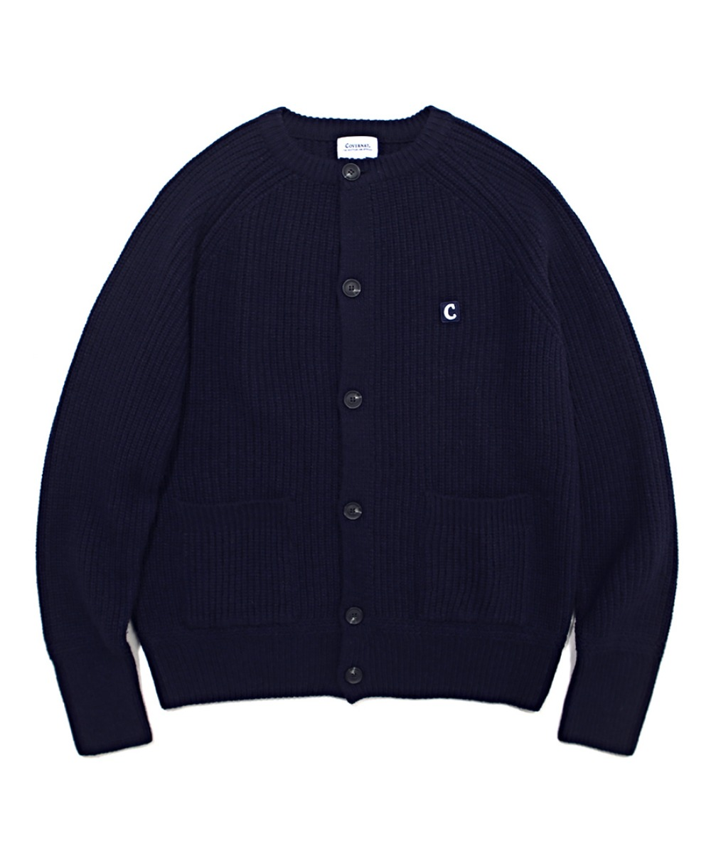COVERNAT X TWC HEAVY GAUGE CARDIGAN NAVY