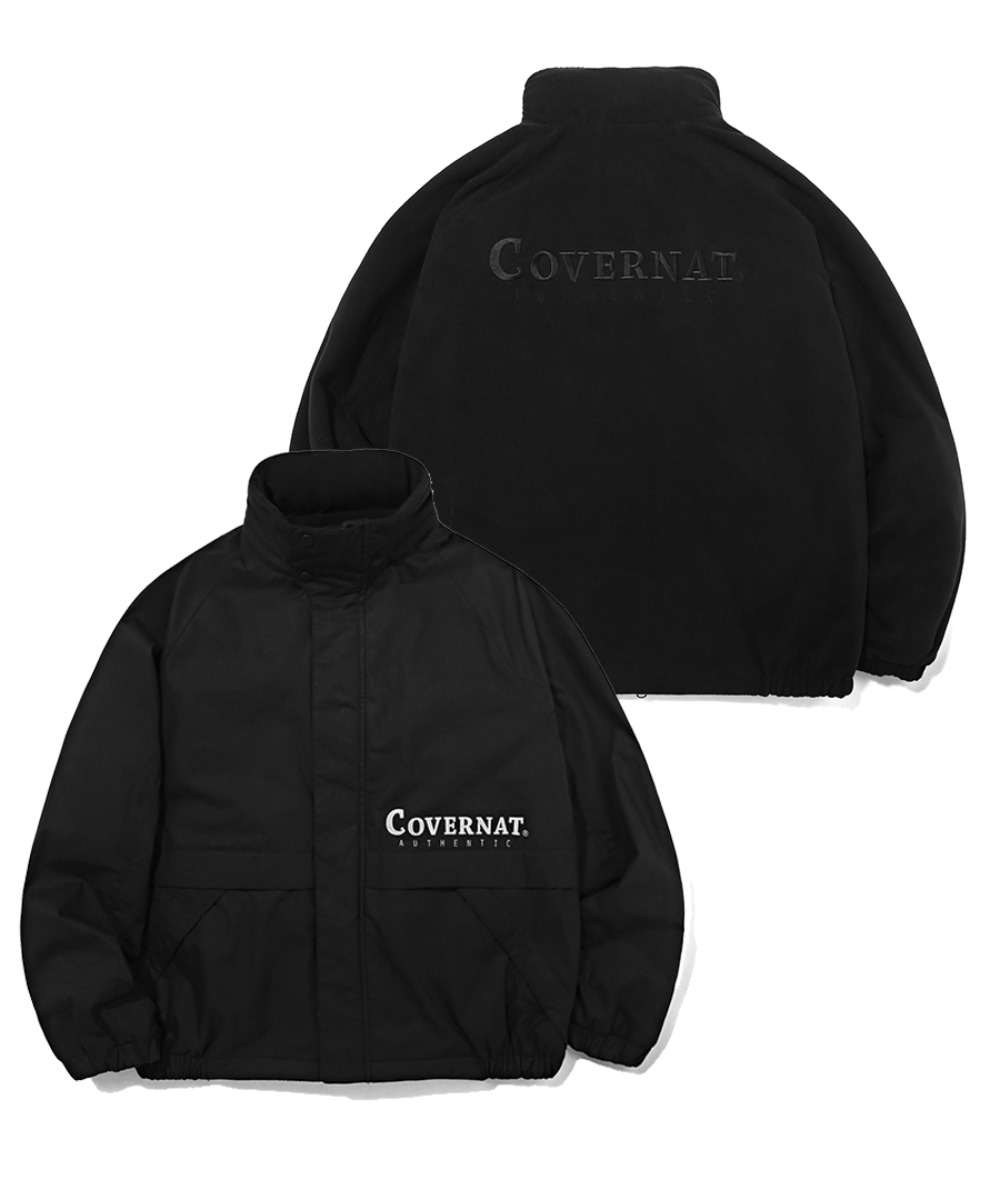 REVERSIBLE FLEECE YACHT PARKA BLACK