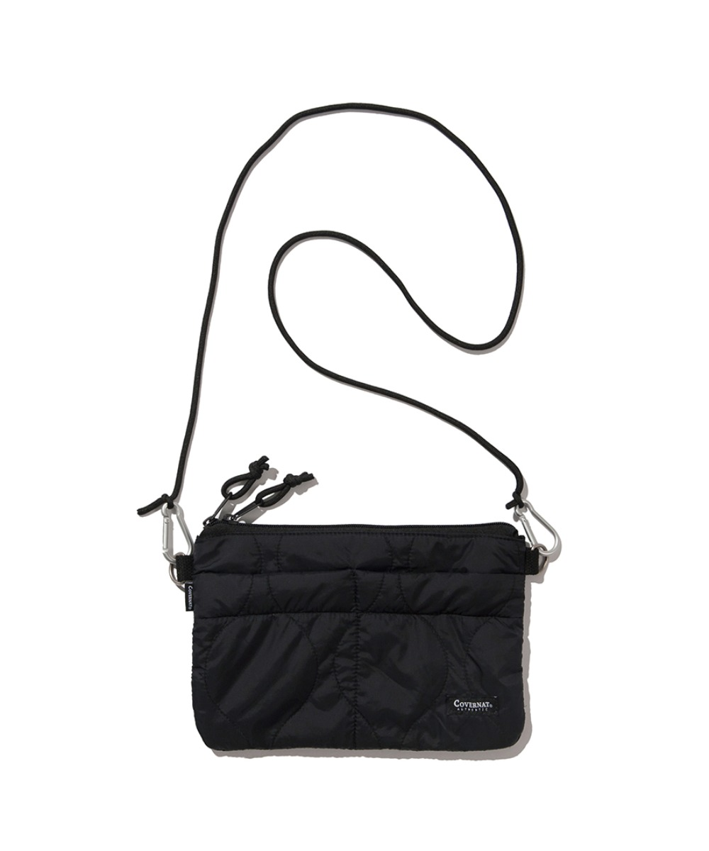 QUILTED SACOCHE BAG BLACK