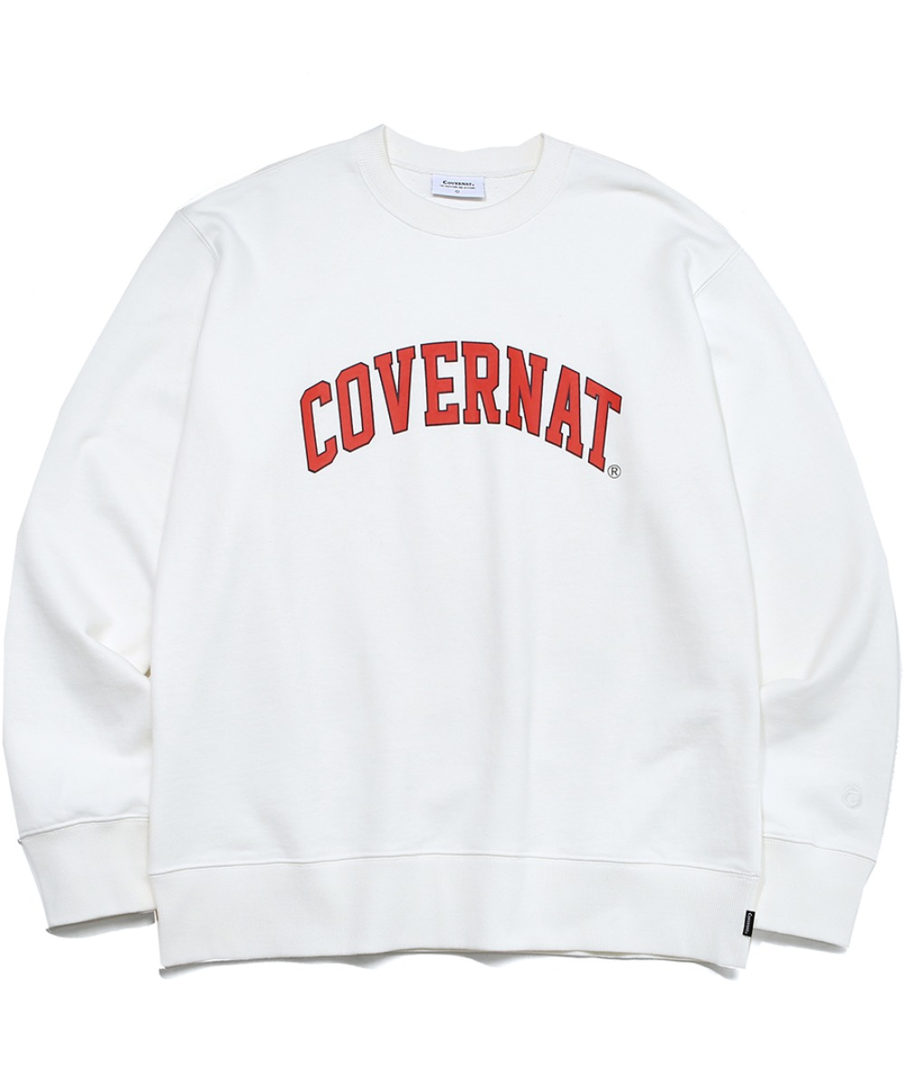 ARCH LOGO CREWNECK WHITE/RED