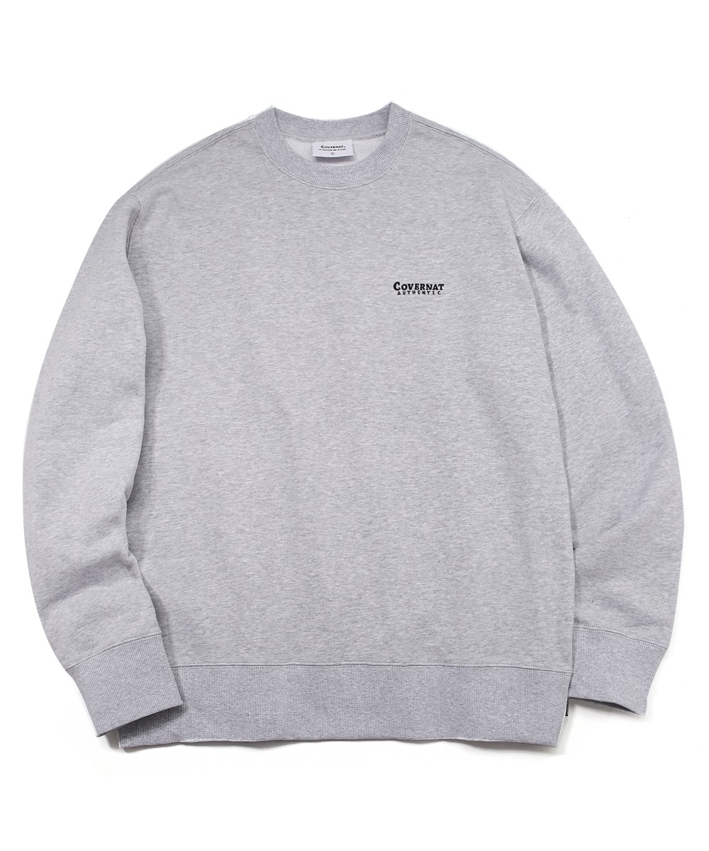 SMALL AUTHENTIC LOGO CREWNECK MELANGE