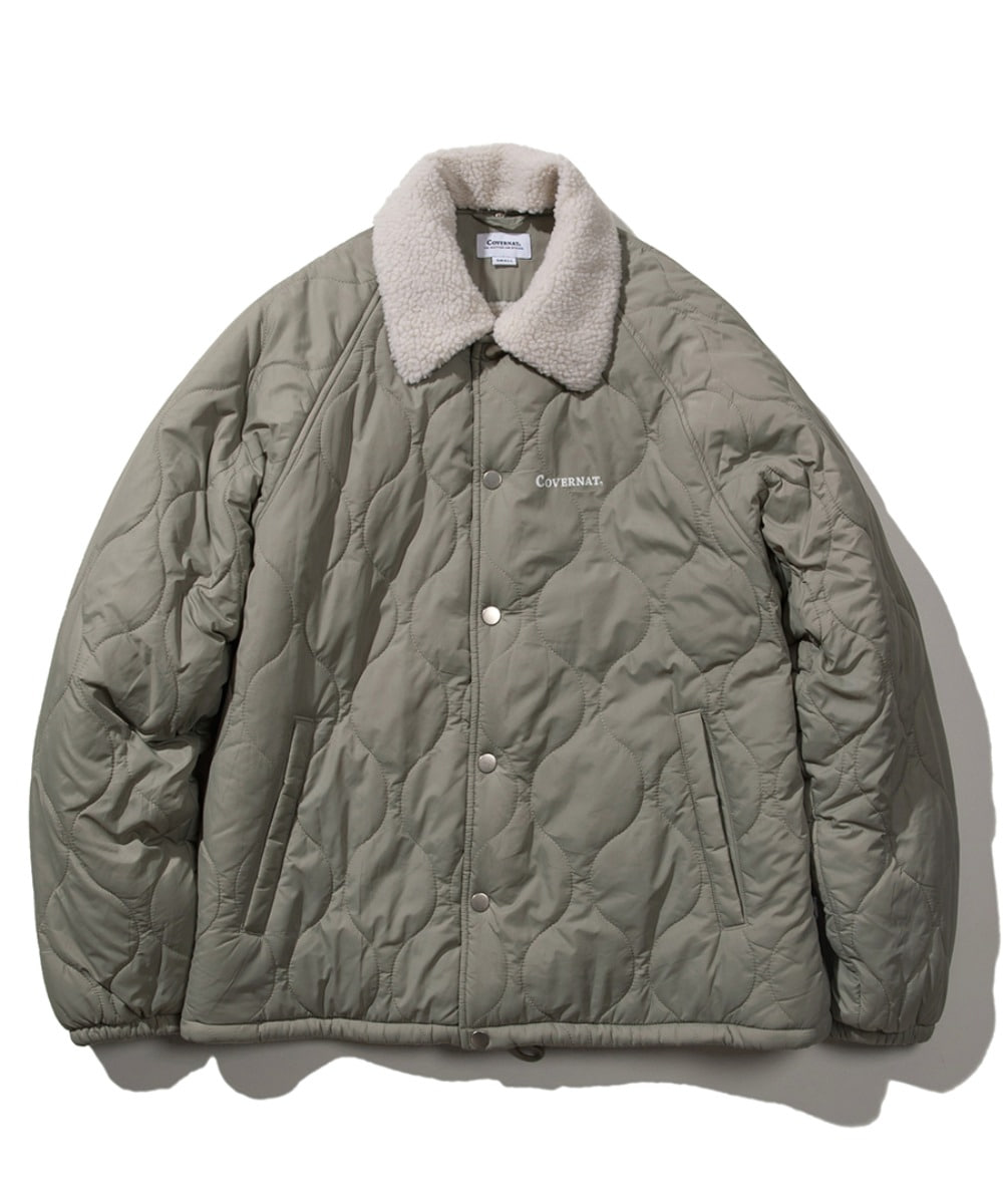 QUILTED BOA COACH JACKET SAGE GREEN