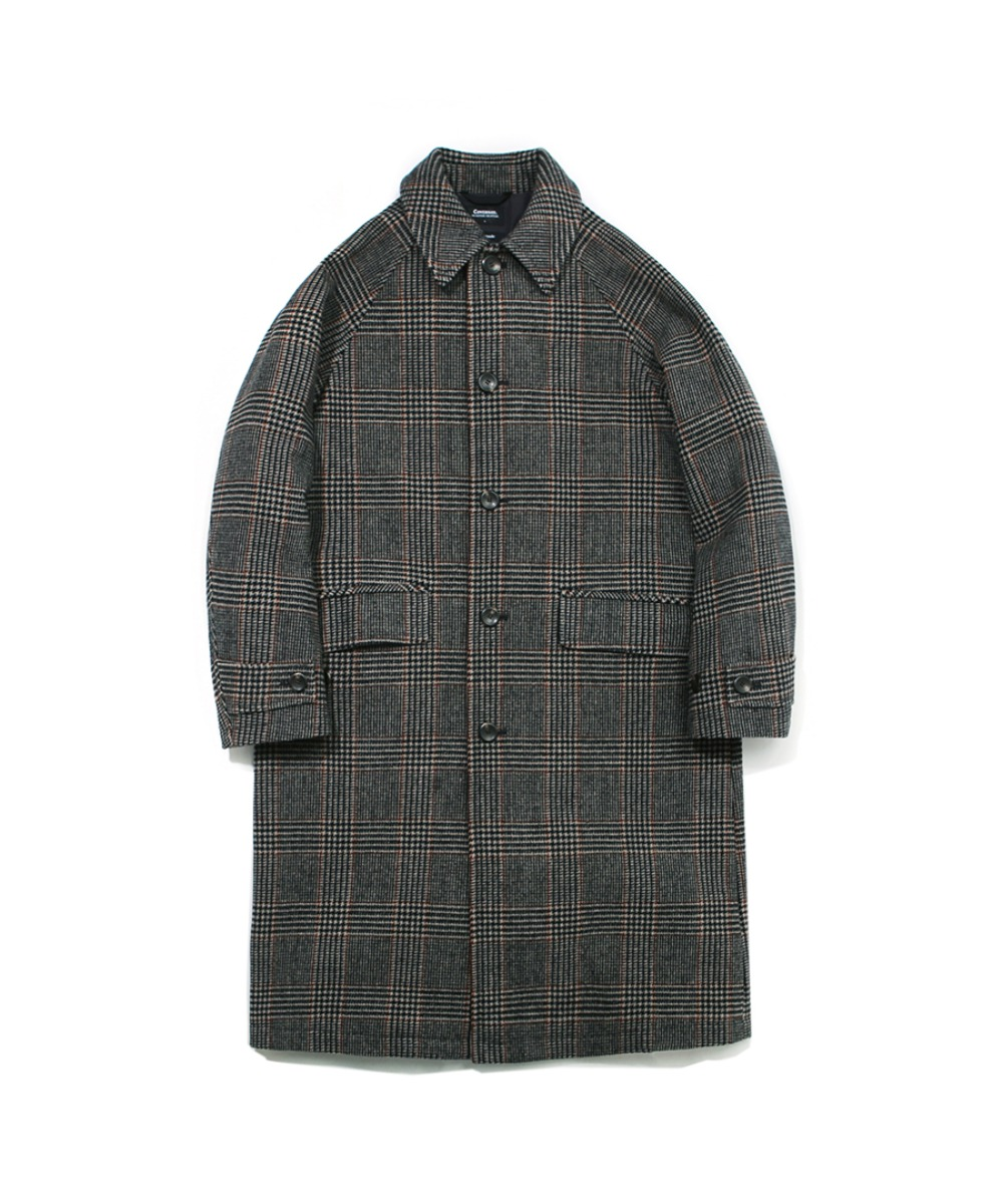 COVERNAT X TWC GLENCHECK WOOL MAC COAT