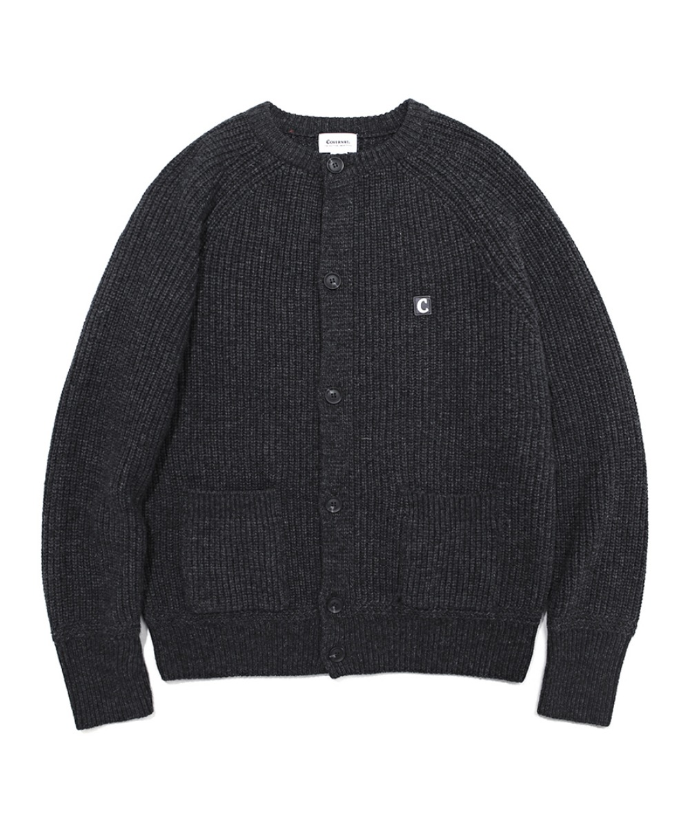 COVERNAT X TWC HEAVY GAUGE CARDIGAN CHARCOAL