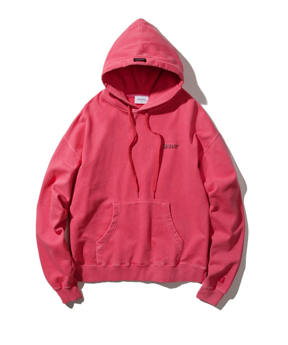 LINE AUTHENTIC LOGO HOODIE CORAL
