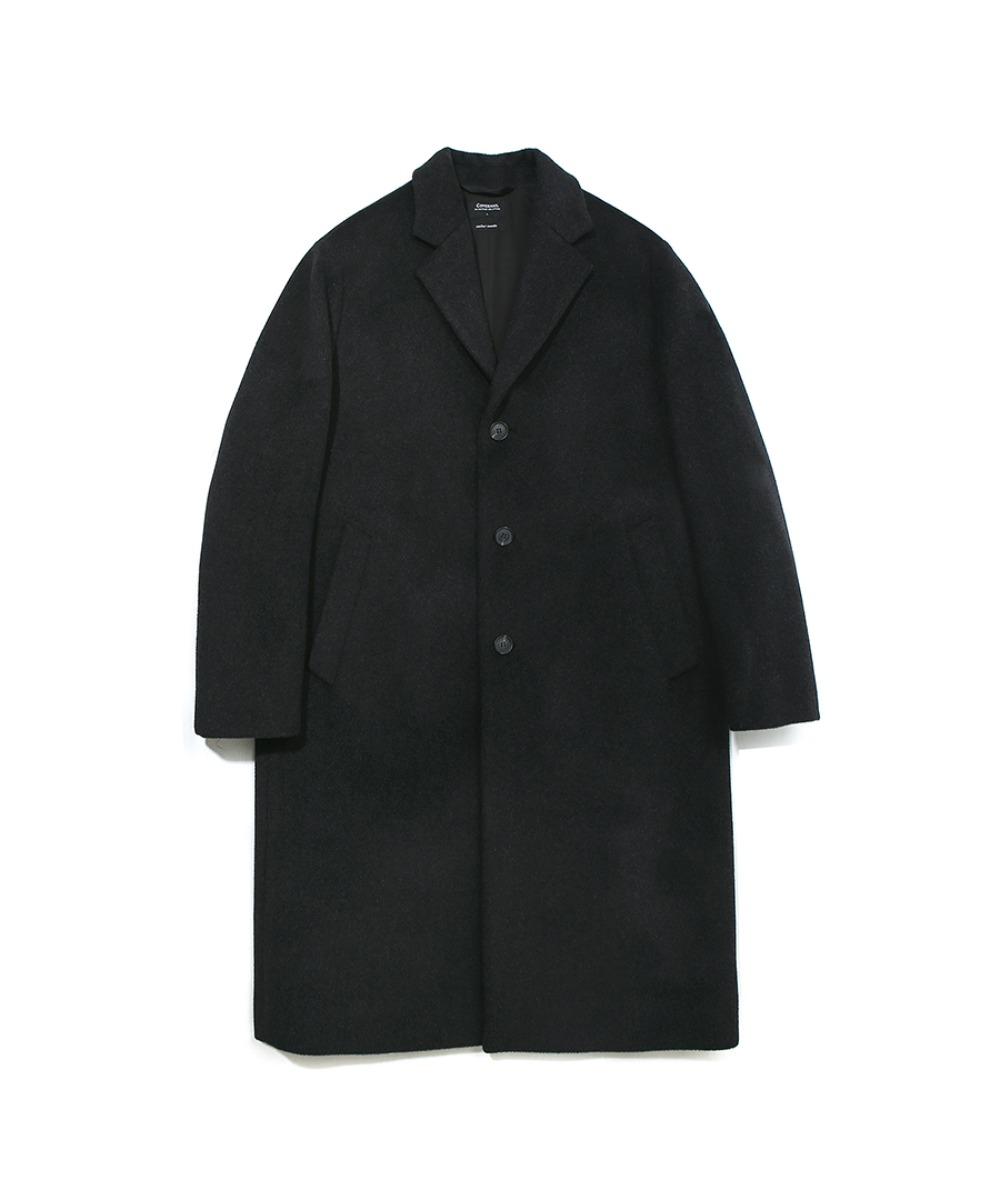 COVERNAT X TWC CASHMERE WOOL CHESTER COAT CHARCOAL