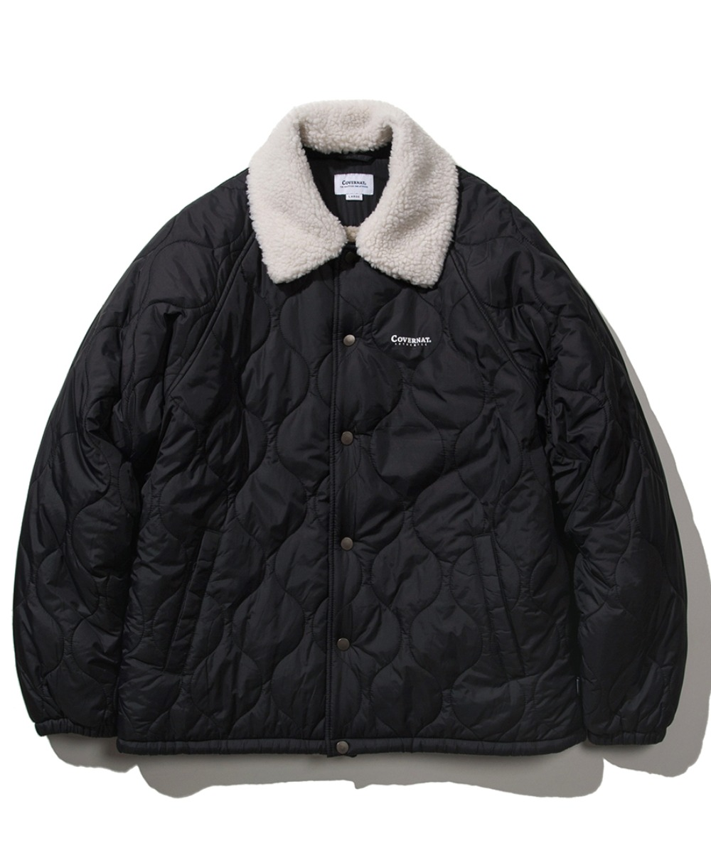 QUILTED BOA COACH JACKET BLACK