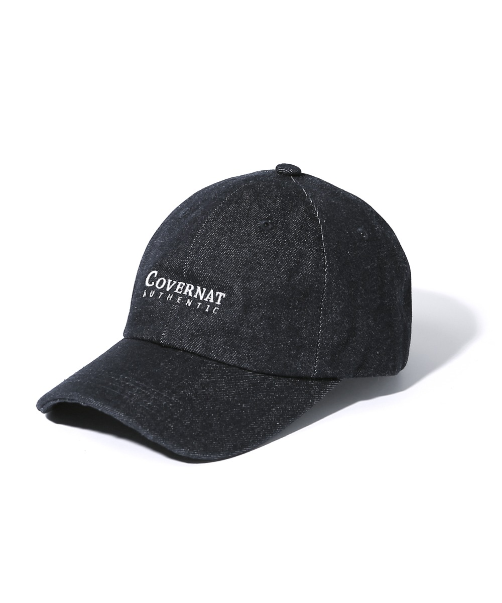 AUTHENTIC LOGO CURVE CAP DENIM BLACK