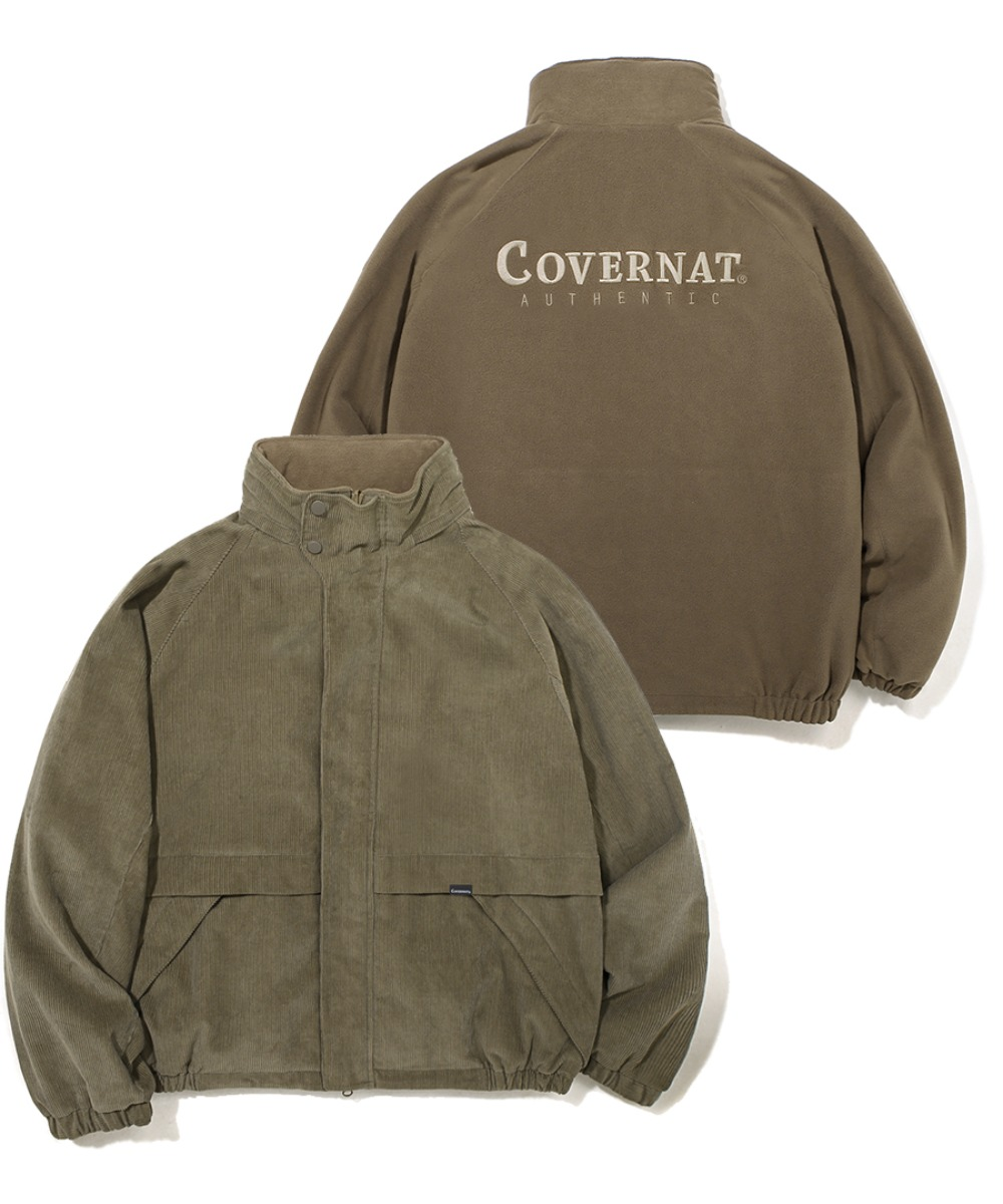 CORDUROY REVERSIBLE YACHT PARKA BROWN