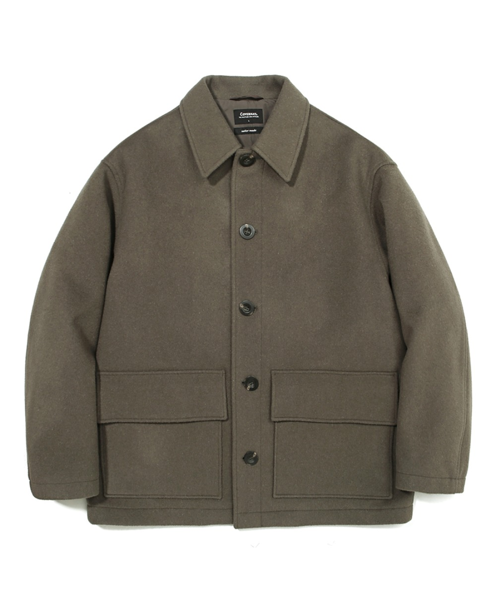 COVERNAT X TWC WOOL SHORT COAT SAGE GREEN