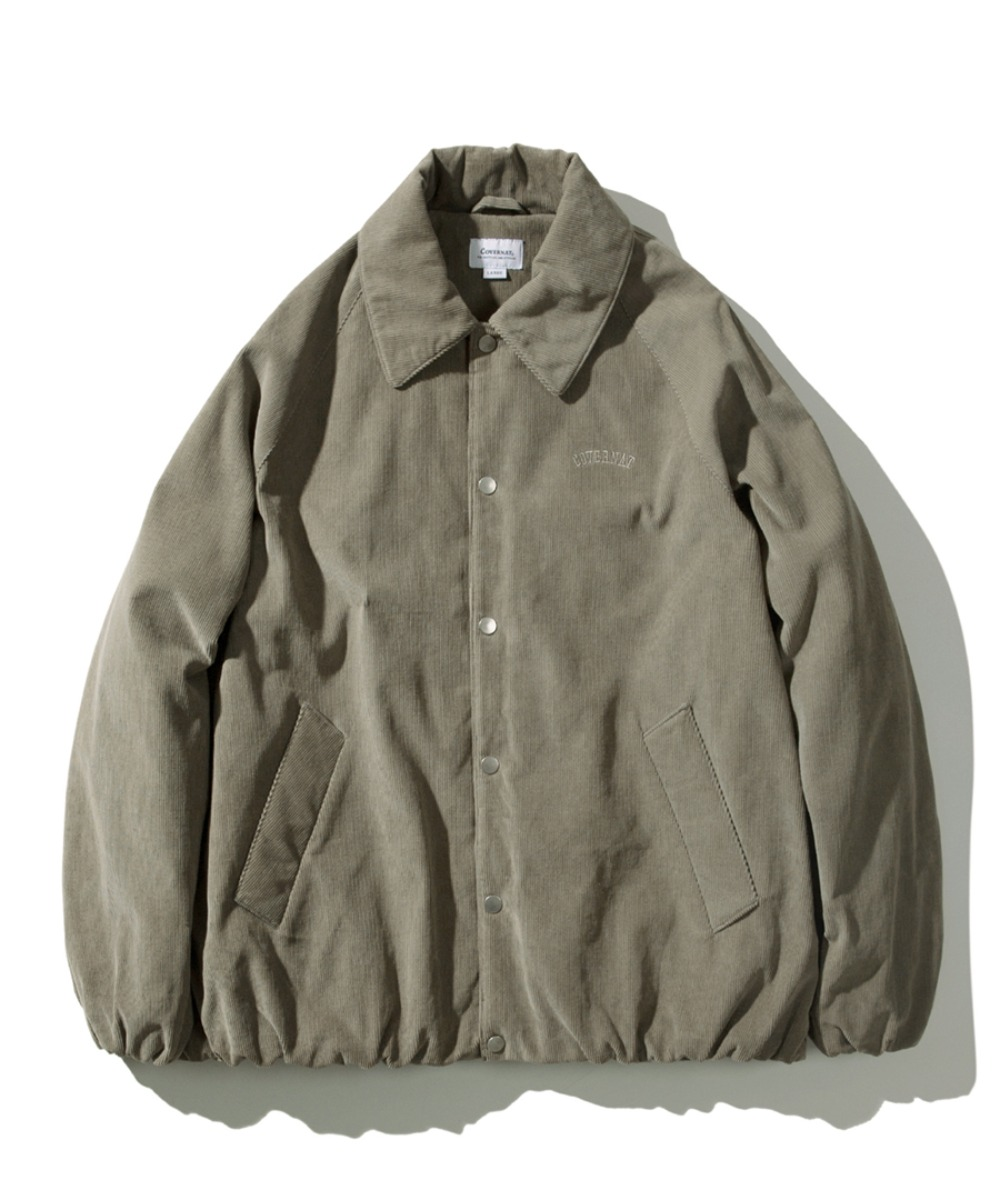PADDED CORDUROY COACH JACKET SAGE GREEN