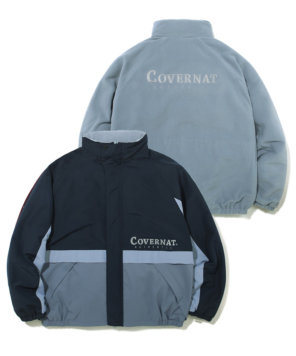 REVERSIBLE FLEECE YACHT PARKA NAVY