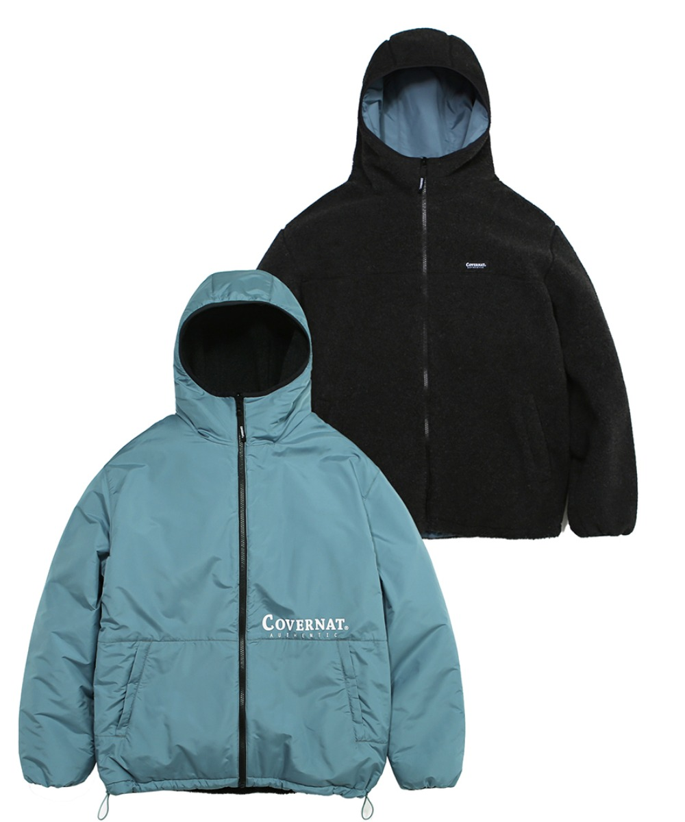 REVERSIBLE FLEECE WARM UP JACKET CH/BL