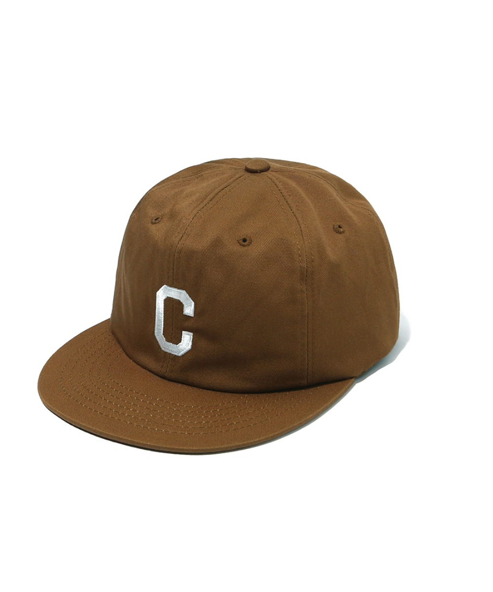 EMBROIDERY C LOGO B.B CAP BROWN