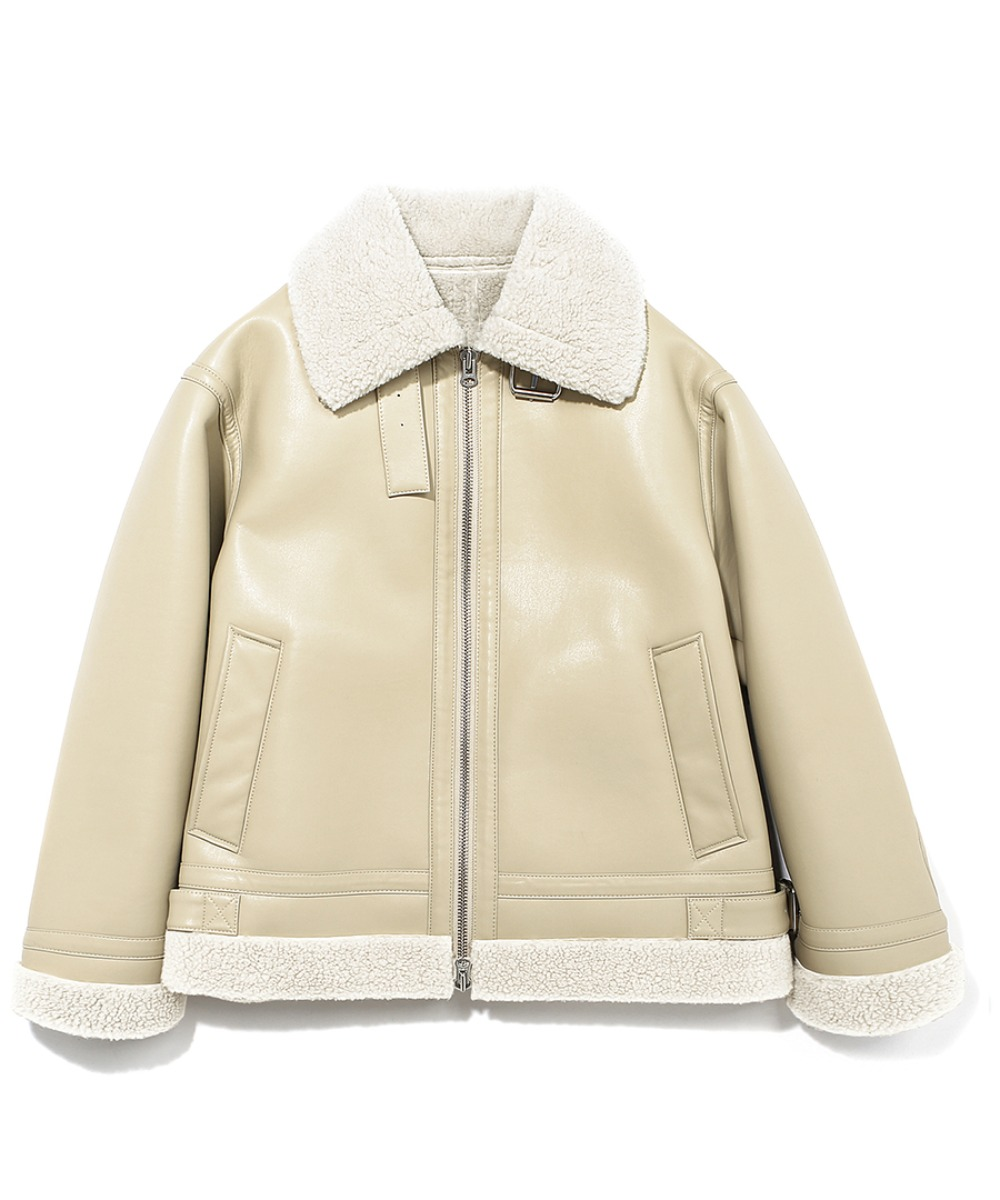 SYNTHETIC MOUTON JACKET BEIGE