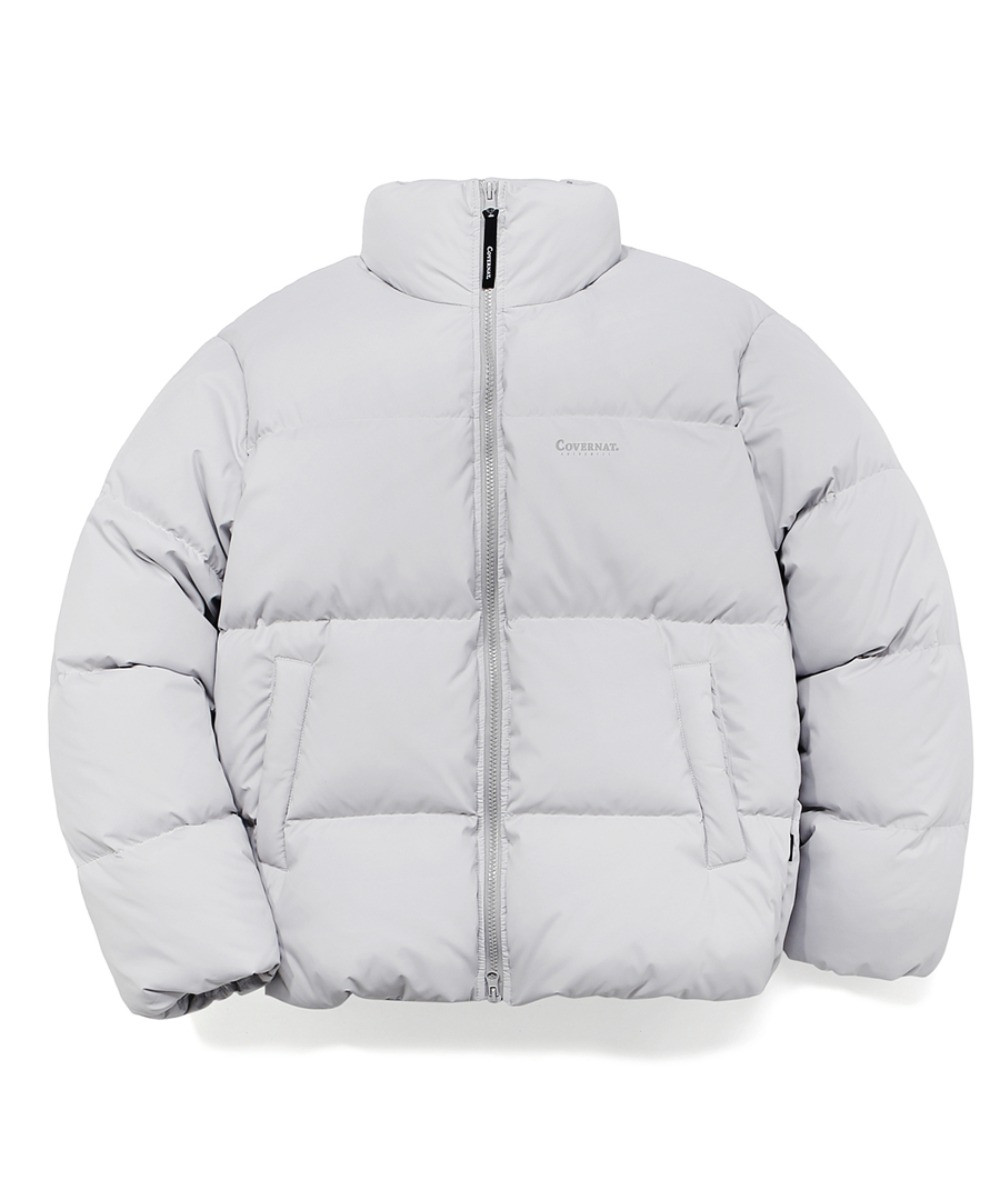 DUCK DOWN WARM UP SHORT PUFFER GRAY