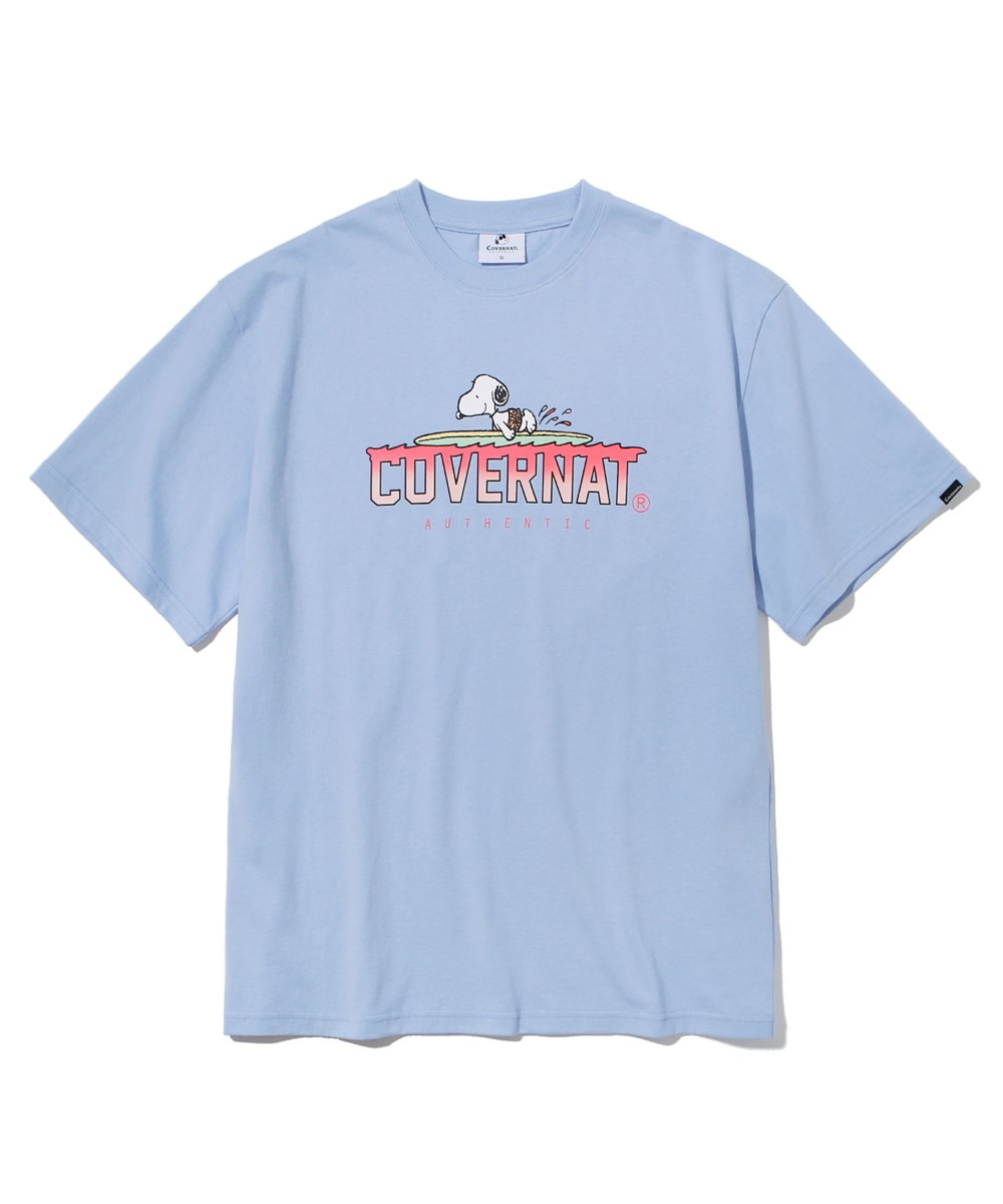 [예약발송]CXPEANUTS 70th PADDLING SNOOPY TEE PURIST BLUE