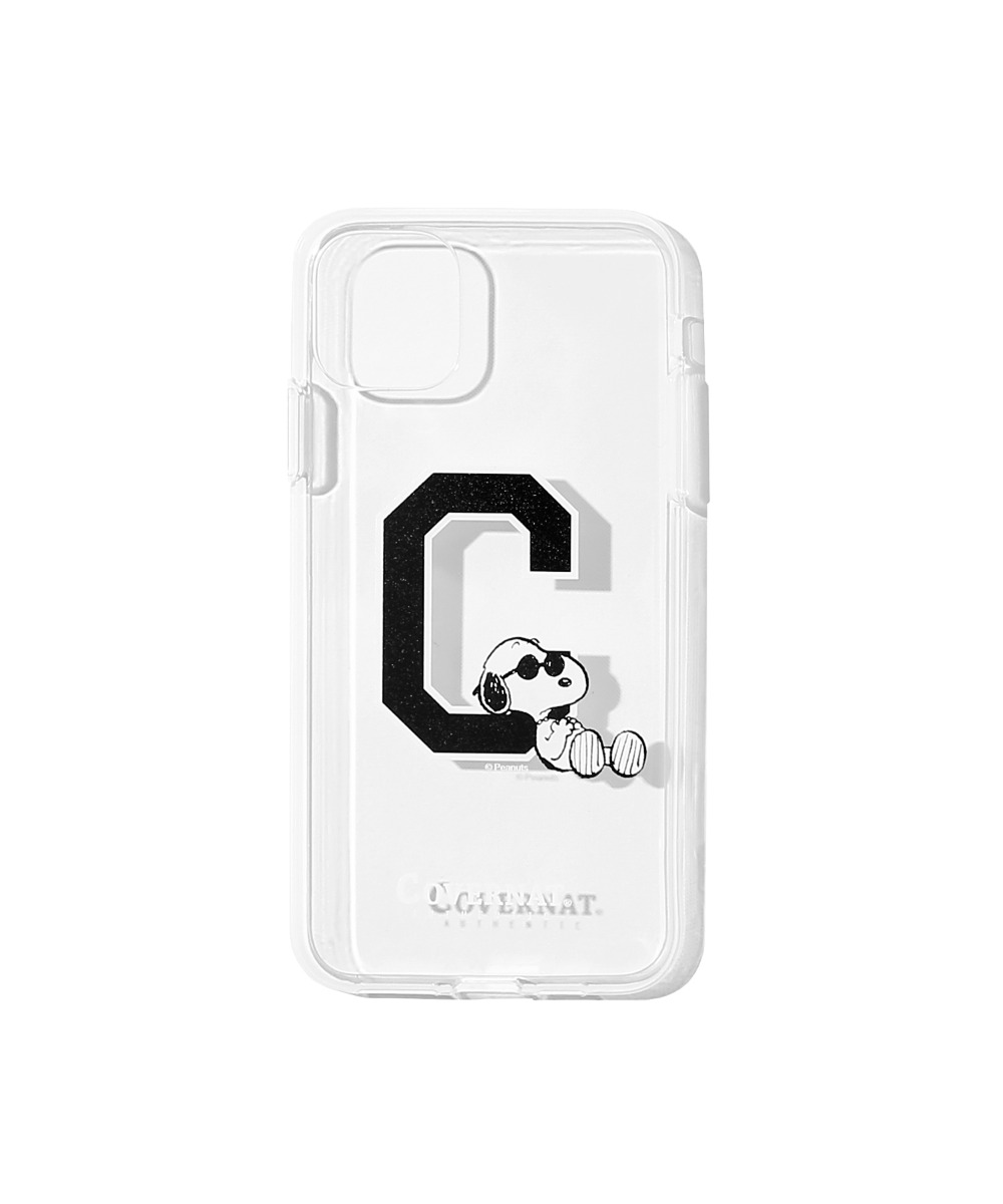 CXPEANUTS 70th C LOGO PHONE CASE CLEAR (iPHONE 11 PRO MAX)