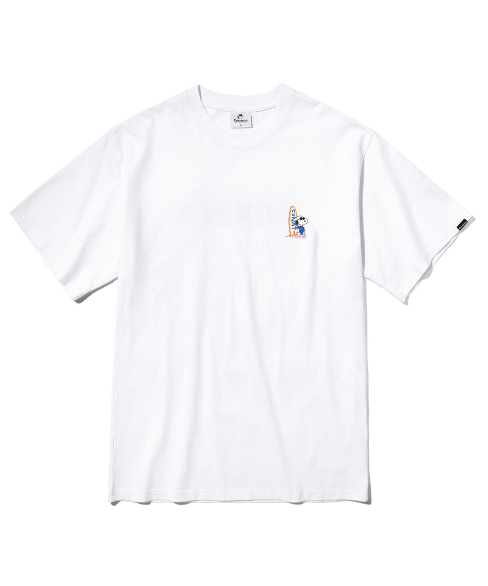 CXPEANUTS 70th SURFING SNOOPY TEE WHITE