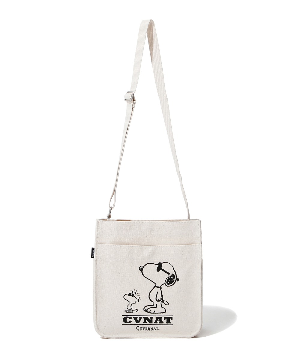 CXPEANUTS 70th FRIENDSHIP SMALL CROSS BAG IVORY