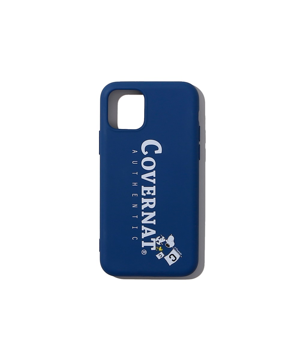 CXPEANUTS 70th AUTHENTIC LOGO PHONE CASE NAVY (iPHONE 11 PRO)
