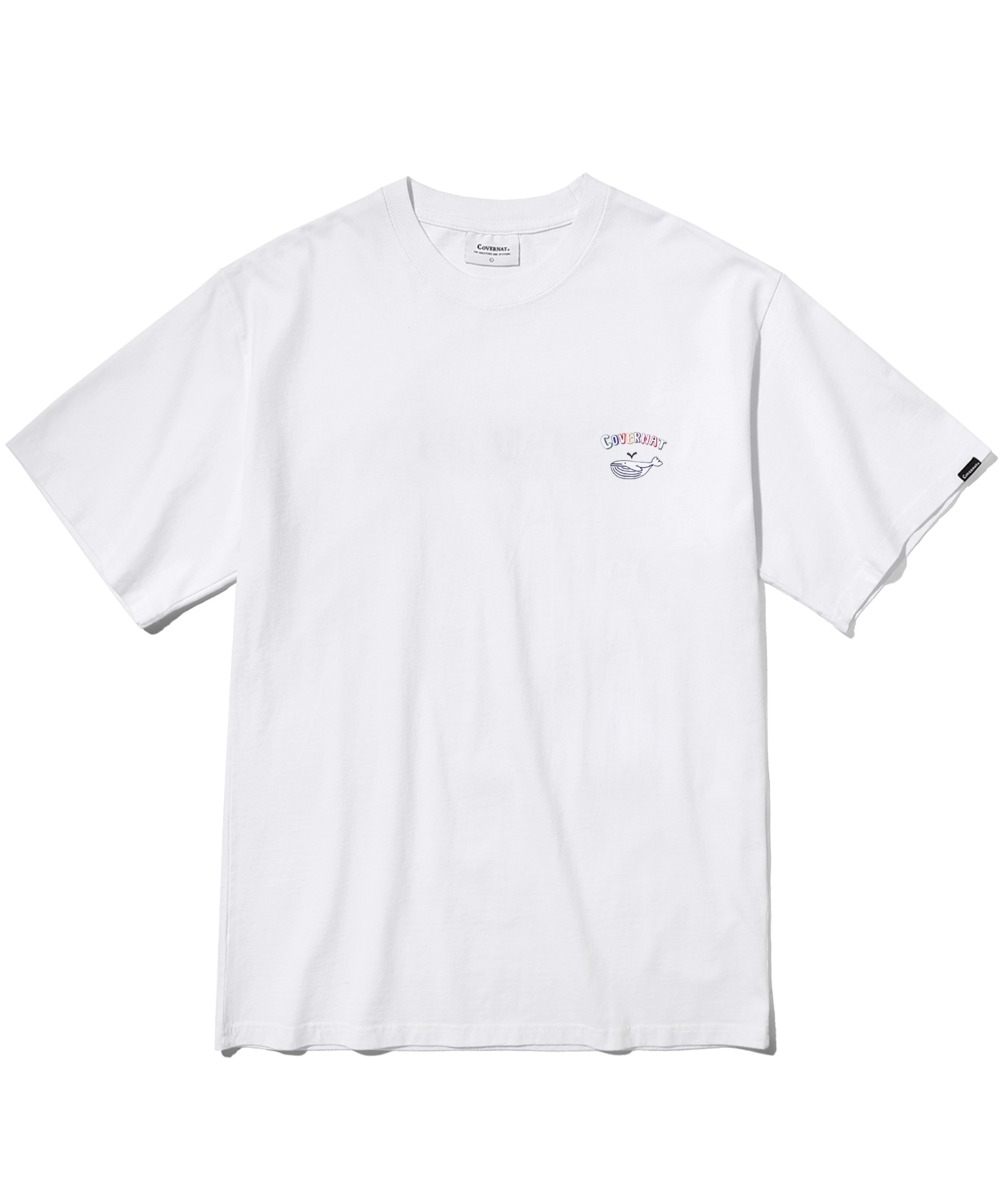 S/S WHALE GRAPHIC TEE WHITE