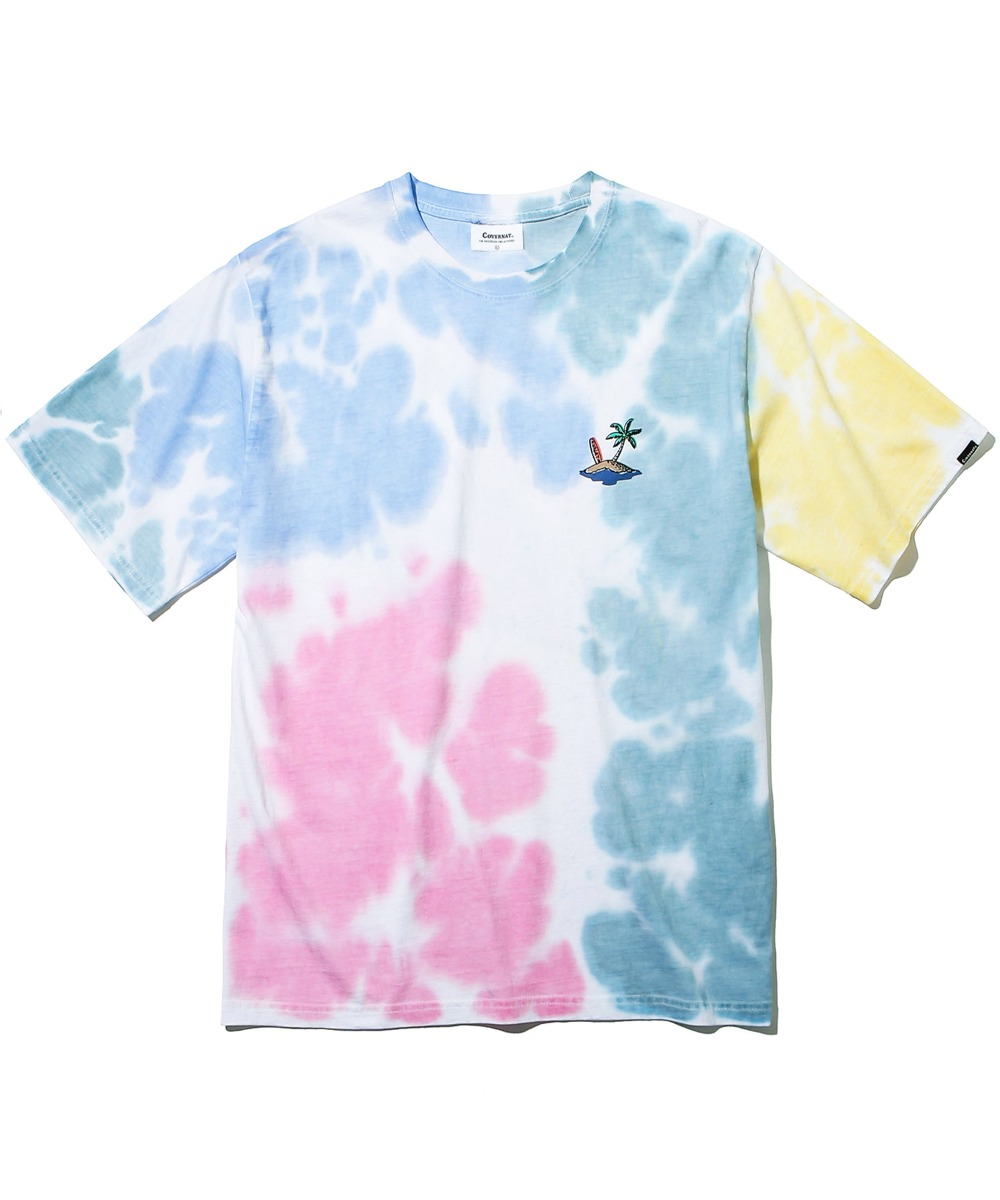 REDBULL HOMMAGE TIEDYING SURFERMAN TEE